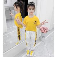 Baju setelan anak perempuan import /baju olahraga anak cewe 3-13th