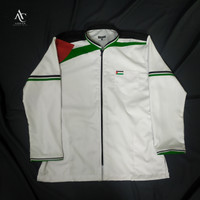 Baju Koko PALESTINE Special Edition Kombinasi Resleting Jaket