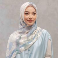 Hijab Segi Empat Tencel Seradia - Aksamala - Mosaic Blue