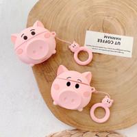 AIRPODS CASE 1 / 2 KARTUN BABI LUCU INPODS 12 CASE RUBBER PIG CUTE