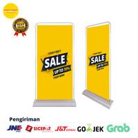 Door Frame Banner/Standing Banner/Stand Frame 60x160 Stand Alas Besi
