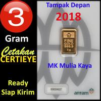 3 Gram Emas Batangan Logam Mulia LM Sertifikat Asli Antam 3 gr 3 Gram.