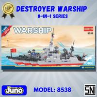 Mainan Bricks Kapal Perang Destroyer Warship Compatible LEGO Juno 8538