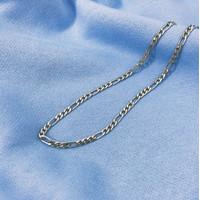 MOZE Plain Necklace - Kalung Rantai Stainless Steel Pria Wanita - Directus 45cm