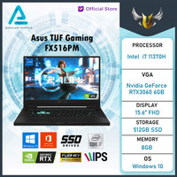 Asus TUF Dash F15 FX516PM i7 11370 8GB 512ssd RTX3060 6GB W10+OHS IPS