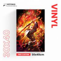 Poster Kayu Anime 30x40 (Custom) Vinyl
