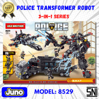 Mainan Bricks Transformer Police Robot 3in1 Compatible LEGO  Juno 8529