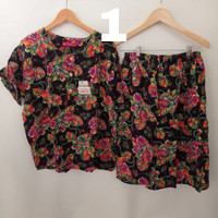 setelan celana rok jumbo batik kencana ungu - baju tidur jumbo L4 SP