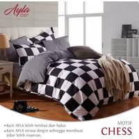 Bedcover&Sprei Katun AYLA Motif CHESS Ukuran 140x200-200x200cm
