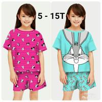 Baju Setelan Anak Perempuan kode 14 / Stelan Anak umur 5-12 Tahun