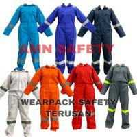 Wearpack Safety/Wearpack Terusan/Seragam Kerja/Baju Proyek/Wearpack