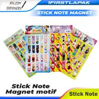 Pembatas Buku Magnet 20pcs Stick note Bookmark Sticknote Magnet - BT21