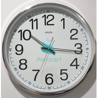 Jam Dinding Jam Dinding Sakana 715 Warna Putih Chrome Ukuran 50 Cm -