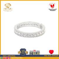 SBJ - cincin emas putih wanita perhiasan emas asli 750 CMP180 R9