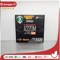 MSI A320M-A PRO MAX (AM4, A320, DDR4) Motherboard AMD SOCKET AM4