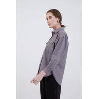 Berrybenka Baju Atasan Kemeja Wanita Sophie Halle Buttoned Shirt