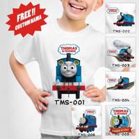 Kaos Anak / Baju Anak Thomas and Friends (Free Nama) - Kaos Putih, Size 3