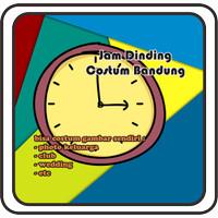 jam dinding custom ukuran diameter 70 cm