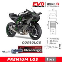 Busi BRISK Premium LGS COR10LGS untuk motor Kawasaki Ninja H2R
