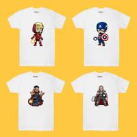 Baju Kaos Chibi Iron Man Captain America Thor Dr. Strange