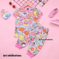 Setelan Momo Kids Size Bayi - 3 Tahun / EXPORT Quality Baju Karakter - BAYI - SMALL
