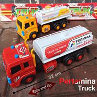TRUK TANGKI BBM (SPIN & GO) - MAINAN ANAK MOBIL TRUCK BAHAN BAKAR