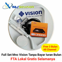 Antena Parabola Mini Indovision - MNC Vision Bebas Iuran Bulanan