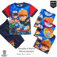 Baju Setelan Anak Laki-laki BOBOIBOY BM Fullprint 2-10 tahun keren