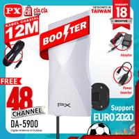 Antena TV Digital Analog PX DA 5900 Kabel 12M Booster Indoor Outdoor
