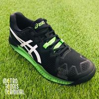 Asics Gel-Resolution 8 Black/Green Gecko ( Sepatu Tenis )