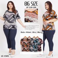 Kaos Oblong Wanita Atasan Murah Baju Batik Melar Jumbo LC 1501Big Size