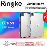 iPad Pro 11 2021 - 2018 Case Ringke Fusion Transparent Back Cover - Clear