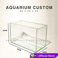 Aquarium Ikan Hias 40 x 20 x 25 Custom - 20x40x25