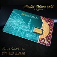 EMAS LOGAM MULIA (LM) MASJID NABAWI GOLD 0.5 GRAM KING HALIM