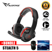 Alcatroz Gaming Headset Alpha MG-370 Bundle Mouse Wired Stealth 5