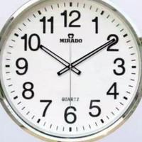 Jam Dinding Jam Dinding Mirado 50Cm White Crom 8828 Best Quality