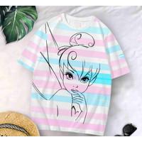 T-Shirt Rainbow Garis XL / Baju Kaos Wanita XL Oversized Katun Combed