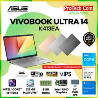 ASUS VIVOBOOK ULTRA K413EA - i3-1115G4 8GB 512GB SSD 14 FHD OHS W10