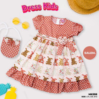 Baju Pesta Anak Perempuan - Dress Katun Anak Perempuan 3 Sampai 10 Thn