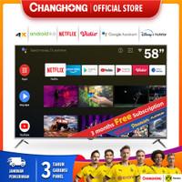 58 Inch Changhong 4K UHD Android 9.0 Smart TV Netflix LED TV -U58H7A