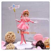 Anime Pink Kartu Captor SAKURA Action Figure Mainan Anak PVC topper