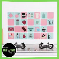 Stiker Dinding Dapur Tahan Panas / Stiker Dinding Dapur Anti Minyak