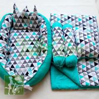 Paket babynest dan bedcover baby set bantal guling kado lahiran murah3