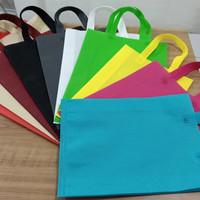 tas kantong goodie bag spunbond recycle ramah lingkungan tali 30x40