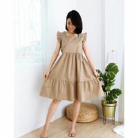 Casual Dress Korea Baju Wanita Cantik Bahan Katun Ootd Fashion