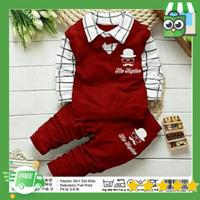 baju setelan anak laki laki atasan dan celana panjang umur 2-3 tahun
