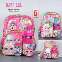 Tas Sekolah Anak Cewek Babe LOL TK PAUD SD Karakter Elsa Hello Kitty