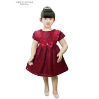 Dress Brokat Anak Cewek /Baju Bayi Umur 1thn Murah /Dress Brokat Clara