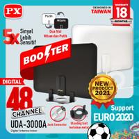 Antena TV Digital Analog Indoor Dinding DVB T2 + Booster PX UDA-3000A