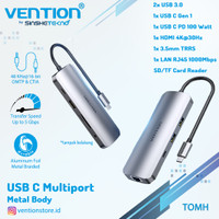 VENTION USB Type C HUB Multiport USB 3.0 HDMI LAN SD TF PD 100 Watt